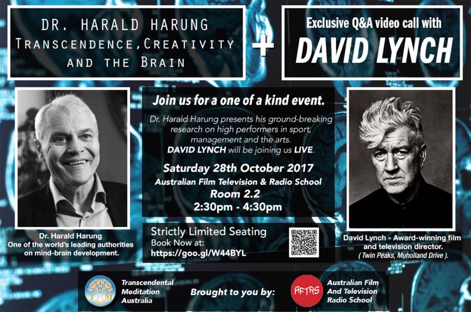 Harald Harung and David Lynch Q&A Video Call